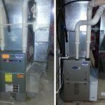 Carrier Gas Furnace Installation Before and After