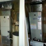 Before and after Amercian Standard Heat Pump installation