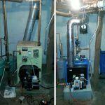 EFM Oil Boiler Installation Before and After