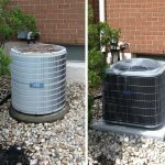 Before and after installation of Carrier air conditioning system