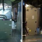 Before and after installation of Carrier Greenspeed Infinity heat pump system