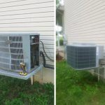 Before and after installation of Carrier 16 SEER Cooling System