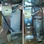 Before and after installation of Carrier Efficient Gas Furnace