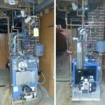 Before and after installation of EFM Oil Boiler