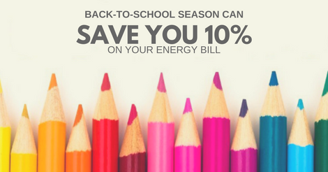 Back-to-School Season Can Save You 10% on Your Energy Bill