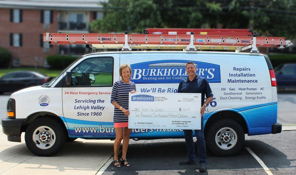 Burkholder's Heating and Air Conditioning donates $2,615 to Truth for Women