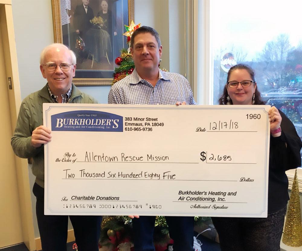 Burkholders HVAC Allentown Rescue Mission