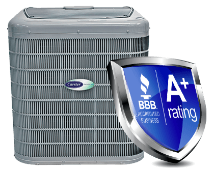 Carrier Heat Pump with BBB Rating of A+