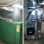 Installation of a Carrier high efficiency oil furnace