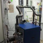 Burkholder's HVAC Gas steam boiler installation