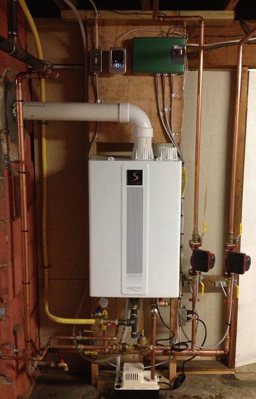 condensing boiler: quietside condensing boiler