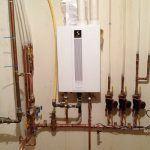 Burkholder's HVAC Quietside Gas Boiler installation with Pex connection