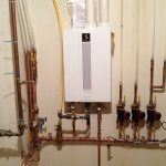 Burkholder's HVAC Quietside Gas Boiler installation with Pex connection