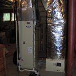 Hybrid Heat pump air handler with Hot water coil
