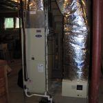 Hybrid Heat pump air handler with Hot water coil