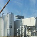 Installing the Three Trane AC Units at Niagara Bottling