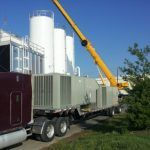 The three forty-ton Trane rooftop units installed at Niagara Bottling