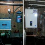 Navien natural gas efficient boiler system