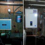 Navien natural gas efficient boiler system