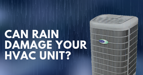 can rain damage your heating or air conditioning unit