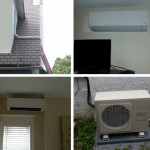 Installation of Fujitsu ductless heat pump system for living room and bedroom area
