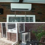 Installation of Fujitsu ductless heat pump system