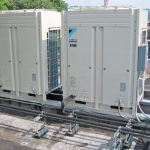 Two Daikin ductless split system heat pumps were installed to heat and cool the second and third