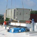 Installing the roof unit at the Sigal Museum
