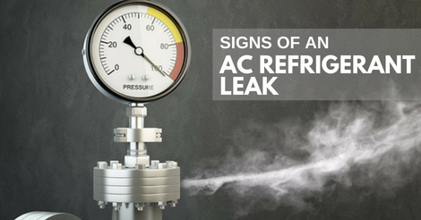 signs of an ac refrigerant leak