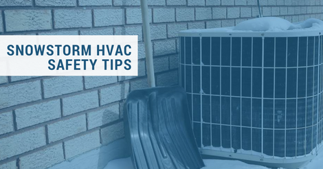 snowstorm HVAC safety tips