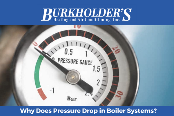 why does pressure drop in boiler systems